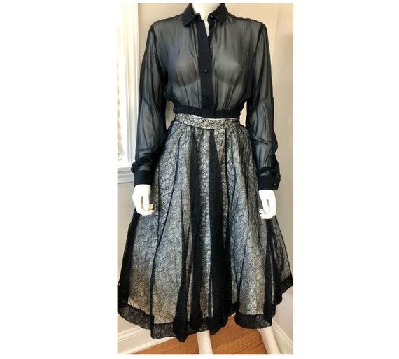 Vintage Deadstock 1950's CEIL CHAPMAN Lace Overla… - image 2