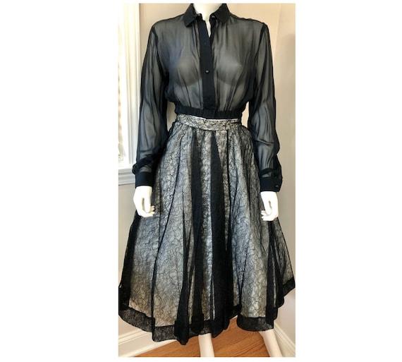 Vintage Deadstock 1950's CEIL CHAPMAN Lace Overlay