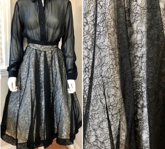 Vintage Deadstock 1950's CEIL CHAPMAN Lace Overla… - image 1
