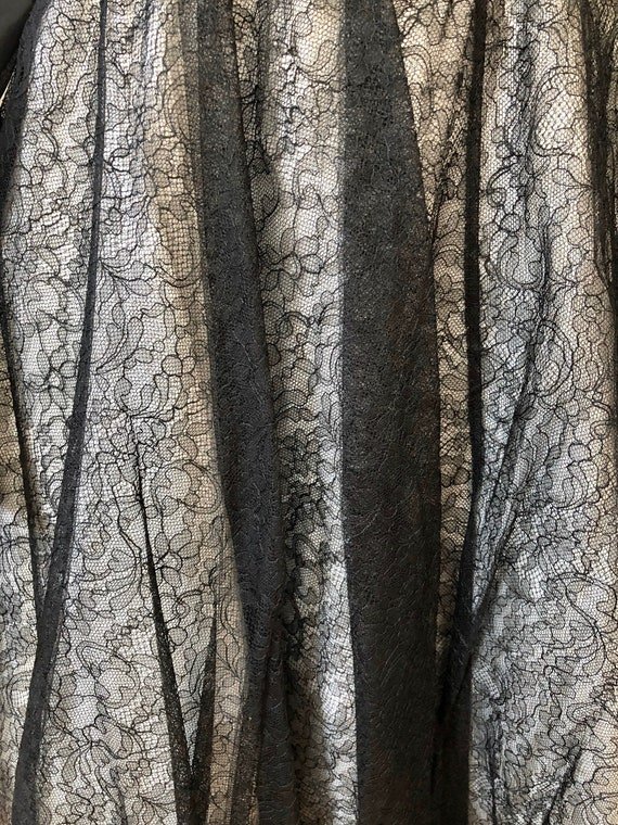 Vintage Deadstock 1950's CEIL CHAPMAN Lace Overla… - image 5