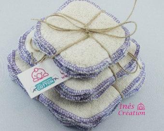 "Make-up organic coton Washable Wipe Organic Cotton 3,2"" x 3,2"""