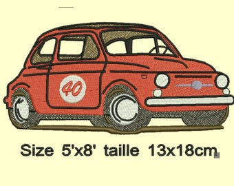 Fiat 500 old embroidery design