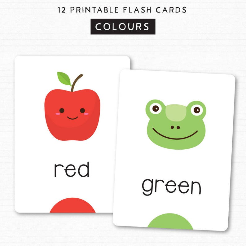 photograph about Printable Color Flashcards for Toddlers titled Little ones Flash Playing cards - Find out Hues Shades - Printable Letters - 12 Lovable Flash Playing cards - Preschoolers Infants - Flashcards - Instantaneous Down load