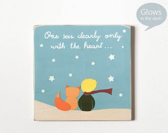 Little Prince Wall Art Little Prince Fox Le Petit Prince The Little Prince Quote Wood Wall Art Unique Baby Gift Baby Shower El Principito