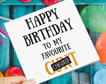 Happy birthday cunt   Etsy