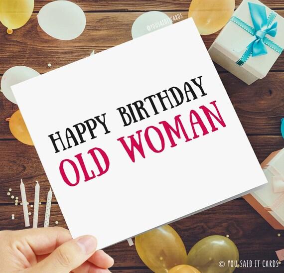 Alles Gute Zum Geburtstag Alte Frau Lustige Unhoflich Und Etsy