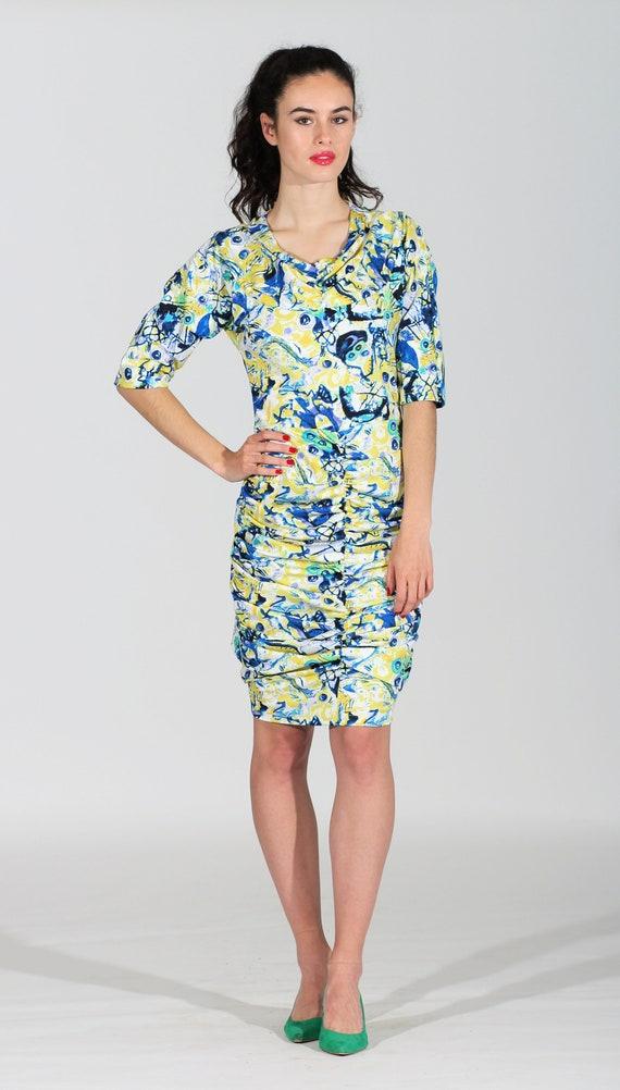 44 summer dress dress 34 chic draped dress dress Sizes dress dress cocktail dress elegant to Yellow mini fitted dress dress sexy Rf5wqfd