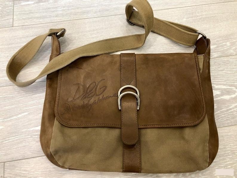 9a76a4dffc3f5 men's bag Dolce Gabbana / vintage / leather / DG /