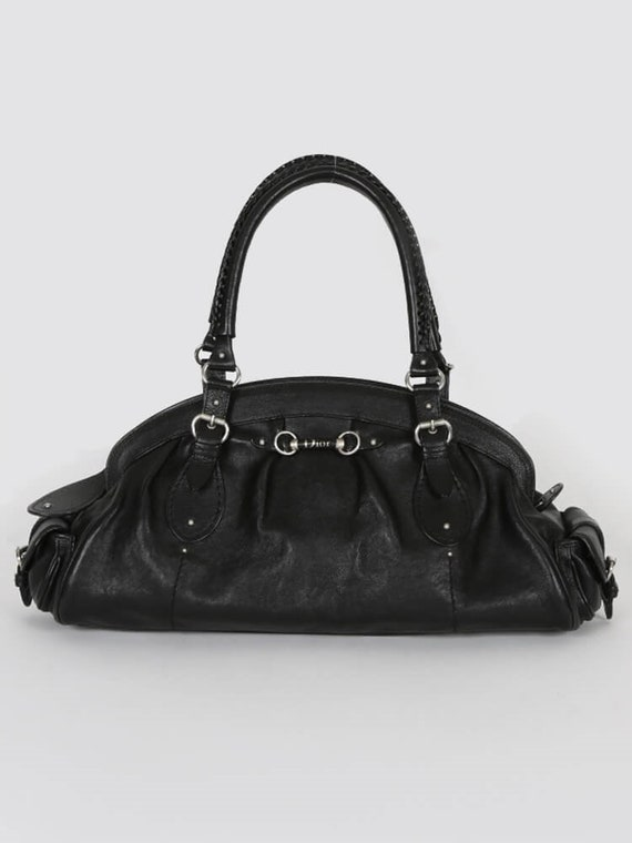 DIOR Detective Black Leather Top Handle Bag
