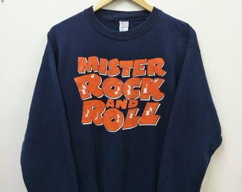 Vintage MISTER ROCK And ROLL//Sweatshirt Spellout//Classic Drama Film 1950's//Size M//Pioneer of Rock n Roll Music//Chuck Berry Alan Freed