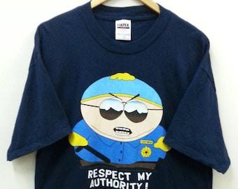 Vintage SOUTH PARK//Cartman Respect my Authority//Size XL//Tultex Tag