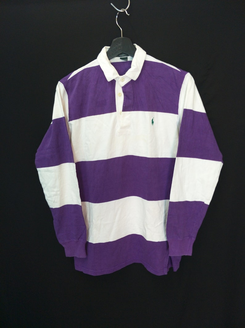 the latest 55a3c 6d94c Vintage POLO Ralph Lauren Rugby Size S Colour Block   Etsy