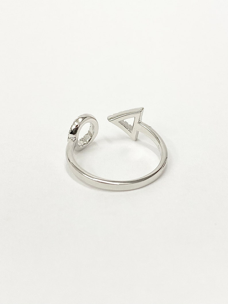 Sterling Silver Open Geometric Ring Geometric Ring Minimalist Ring Adjustable Ring Sterling Silver Ring Everyday Ring