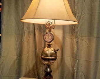 Industrial Steampunk Lamp - Steampunk Table Lamp - Pressure Gauge Lamp