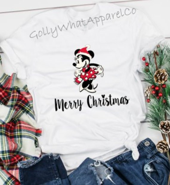 Merry Christmas Disney.Minnie Mouse Merry Christmas Disney Christmas Shirt Disney Vacation Shirt Disney Shirt Merry Christmas Shirt Very Merry Christmas Party