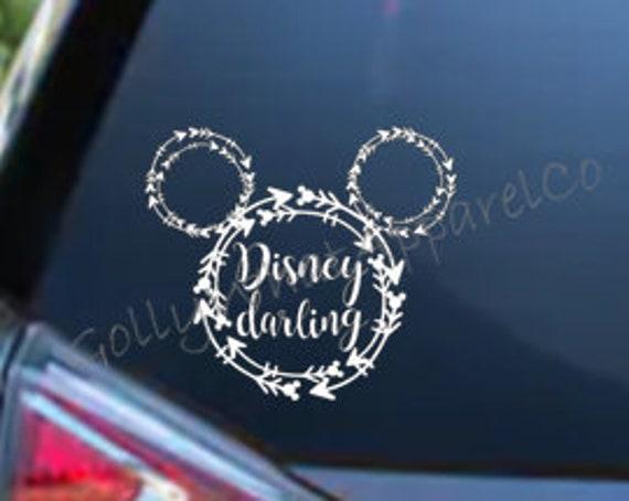 laptop Disney Stitch Laying Down Vinyl Sticker Van Car Window Decal