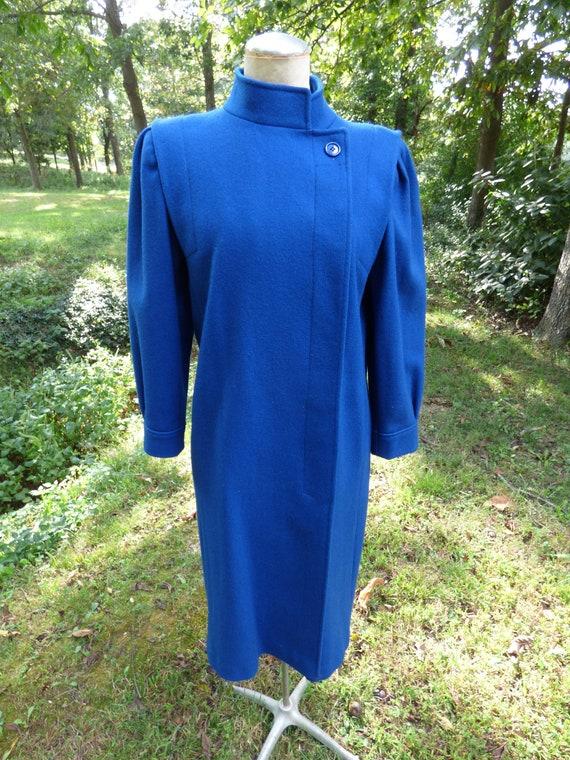 Vintage Princess Coat Blue Jill JR Wool 1950's - g