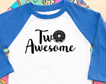 Second Birthday Donut Shirt, Two shirt, 2nd birthday shirt, birthday shirt, second birthday party, I turned two, two shirt, two 2nd
