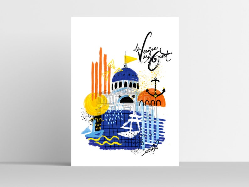 VENICE OF THE WEST  Poster  30x40 cm image 0