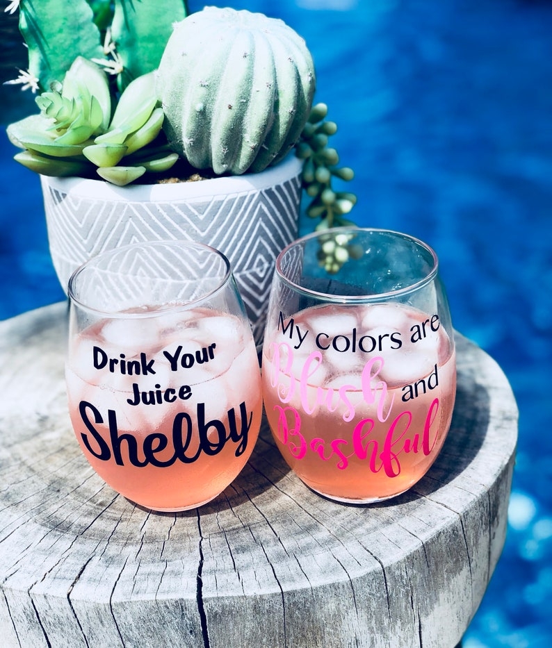 Steel Magnolias wine glass set, drink you juice shelby, my colors are blush  and ... Steel Magnolias wine glass set, drink you juice shelby, my colors  are ...