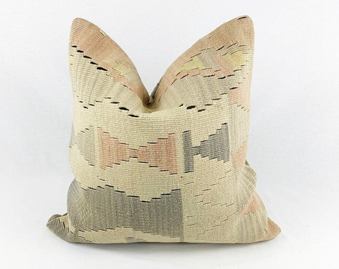 Vintage Turkish Rug Pillow - 20 x 20