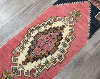 "8'8"" x 2'5"" - Vintage Turkish Runner Rug  