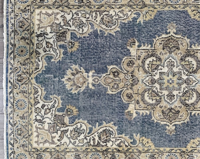 "7'1"" x 4'0"" - Vintage Turkish Area Rug  