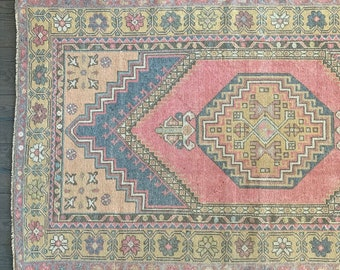 "Vintage Turkish Rug - 6'2"" x 3'8"""