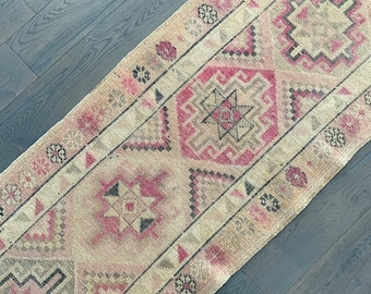 "Vintage Turkish Runner Rug - 13'2"" x 2'8"""