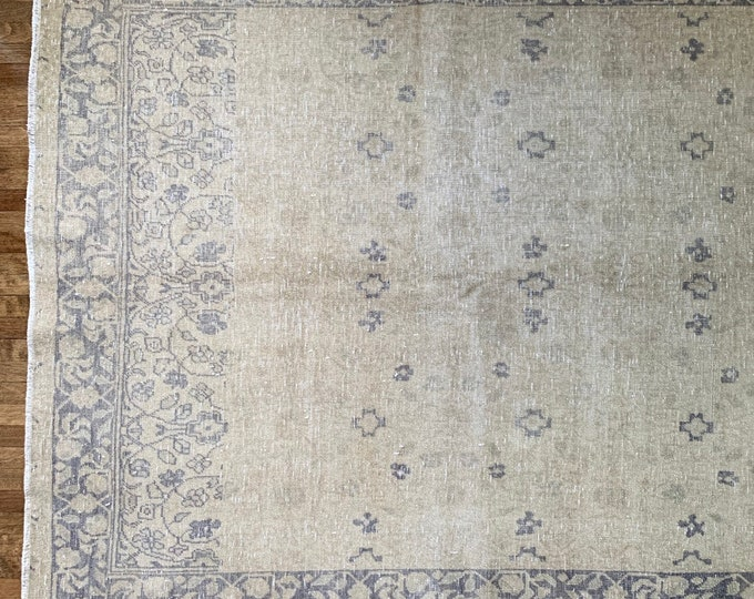 "6'4"" x 4'3"" - Faded Vintage Turkish Rug  