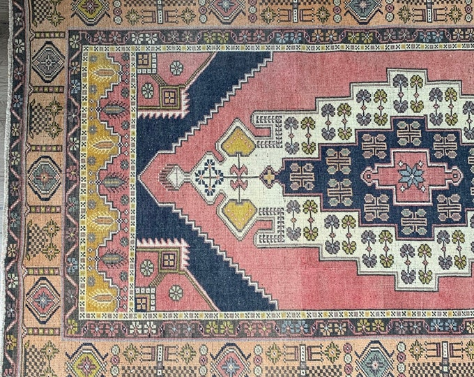 "7'4"" x 4'2"" - Vintage Turkish Area Rug  