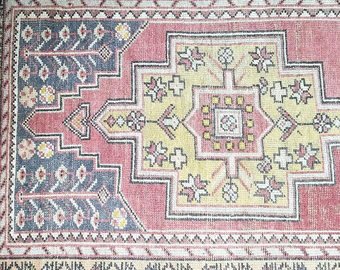 8.7 x 4.0 - Vintage Turkish Rug  |  Pastel Oushak Rug
