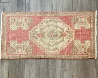"3'0"" x 1'5"" - Mini Vintage Turkish Rug  