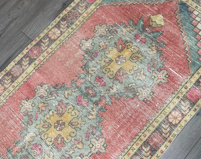 "9' x 3'1""  - Large Vintage Turkish Runner Rug  