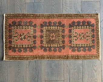 1/'9 x 3/'2 ft Vintage Mini Turkish Rug