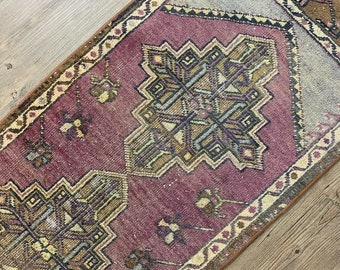 "Vintage Turkish Runner Rug  |  9'7"" x 1'10"" 
