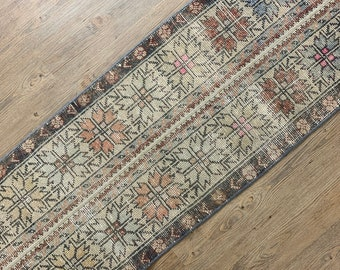 "Vintage Turkish Runner Rug   |  7'0"" x 1'9"" 