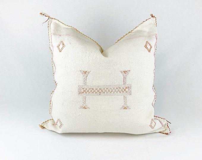 "White Sabra Silk Pillow - 18"" X 18"""