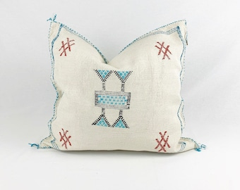 "White Sabra Silk Pillow - 18"" X 18"""