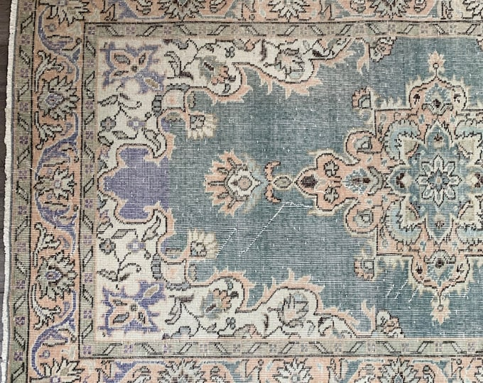 "6'7"" x 4'1"" -  Vintage Turkish Area Rug  