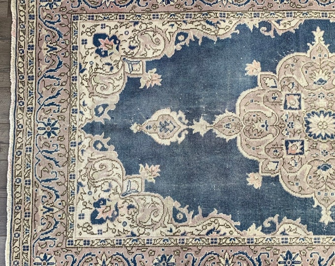 "8'3"" x 4'9"" - Vintage Turkish Area Rug  