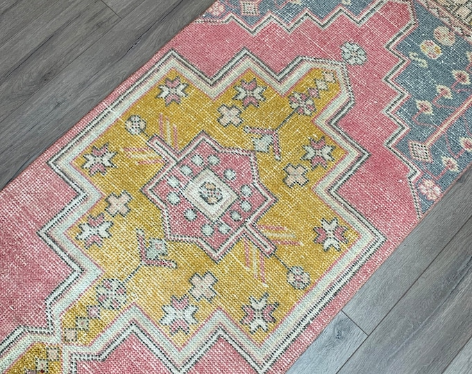 """8'8"""" x 2'6"""" - Vintage Turkish Runner Rug  