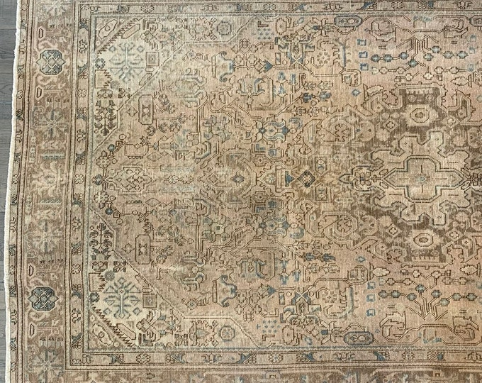 "Large Vintage Turkish Area Rug |  Heirloom Collection - 9'9"" x 6'6"""