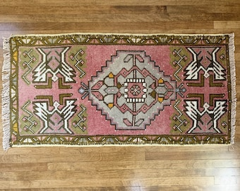 "Mini Vintage Turkish Rug  |  3'0"" x 1'5""  
