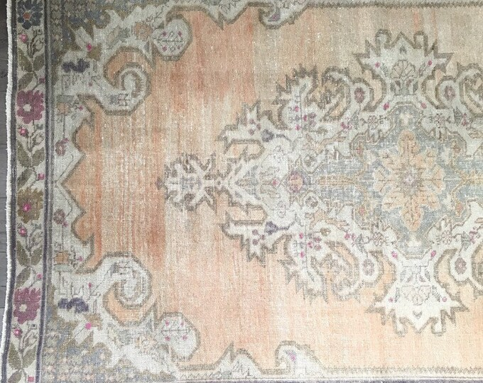 "7'3"" x 4'6""  - Vintage Turkish Rug  