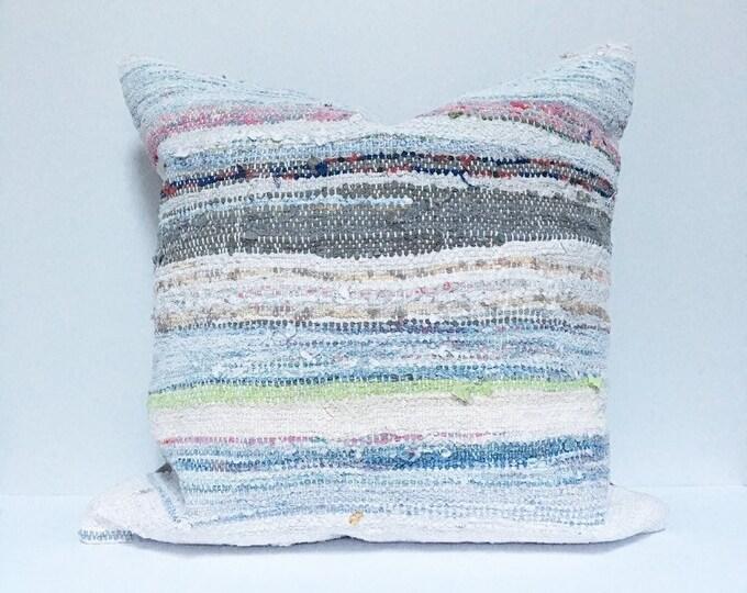 Vintage Turkish Rug Pillow no. 58  |  20 x 20  |  Square Pillow