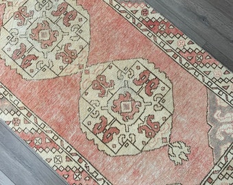 """9'8"""" x 2'9"""" - Vintage Turkish Runner Rug  
