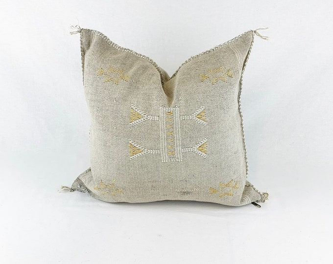 "Gray Sabra Silk Pillow - 18"" X 18"""