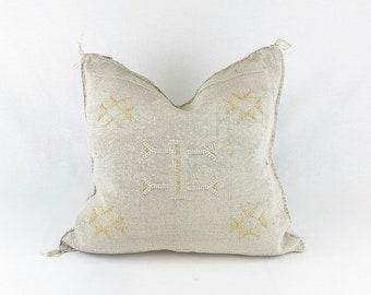 "Gray Sabra Silk Pillow - 18"" X 18"""