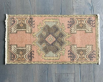 "Mini Vintage Turkish Rug - 3'0"" 1'7"""